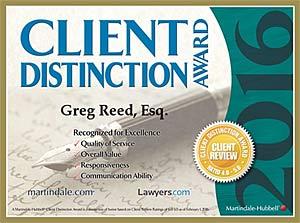 Greg Reed SSDI CLient award