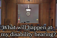 What happens at an SSDI hearing?